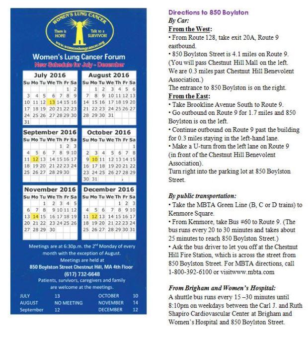 betty calendar + directions